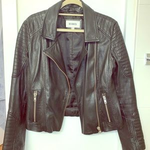 BB Dakota 100% leather Moro jacket medium